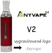 Anyvape EVOD BCC V2 Clearomizer 2,1ohm 1,6ml Red