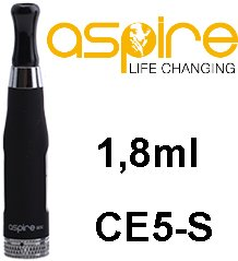 aSpire CE5-S BDC Clearomizer 1,8ohm 1,8ml Black